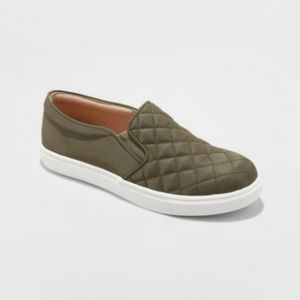 Reese Quilted Slip On Sneakers Green 7.5 A New Day